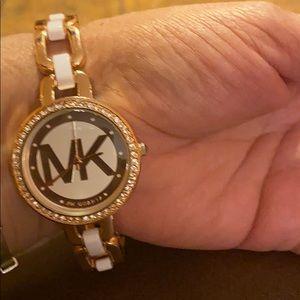 MK rhinestone watch